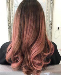 Rose Gold Hair Colour