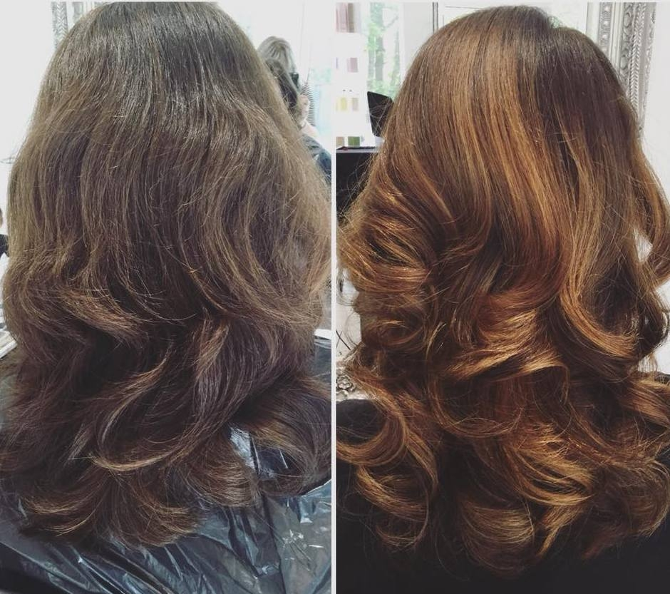 Before and After Dull Brown to Rich Caramel
