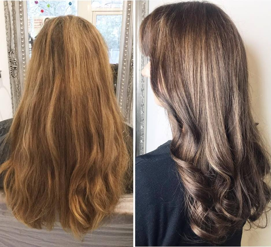 Before and After Hair Colour and Condition