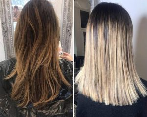 Before and After Balyage Blond Hair Transformation