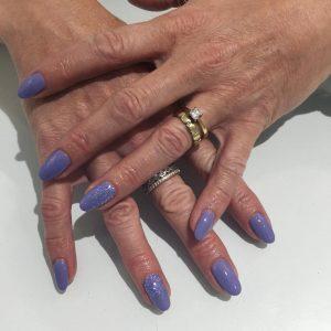 Bio sculpture Lilac Nails