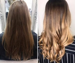 Dark to Rose gold ombre