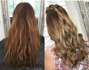 Root stretch and colour lift