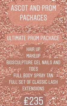 Amore Prom or Ascot Ultimate Package